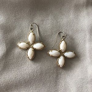 RARE Kendra Scott Gold Earrings with White Stones